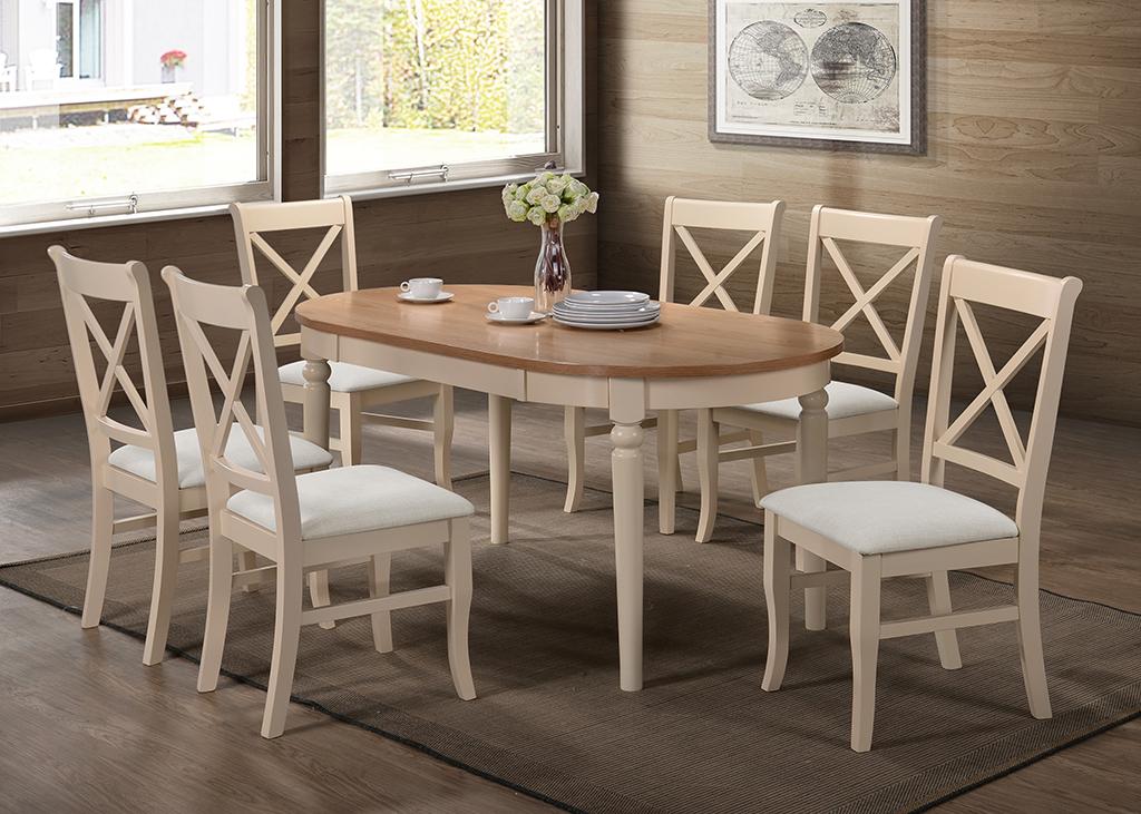 Juliet Grey Amp Oak Dining Set Hj Furniture