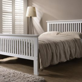 Denver 4'6 White bed